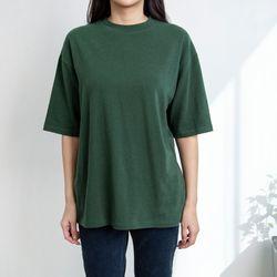 P9469 포근 5부소매 루즈핏 티셔츠