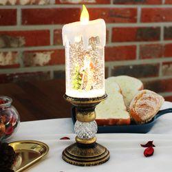 촛대 워터볼 크리스마스 무드등 스노우볼 (산타)