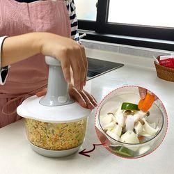 요리왕 다지기 야채 이유식 수동 스핀 다용도 믹서기