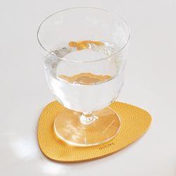 주방 인테리어 홈데코 방수 양면 가죽 디자인 티코스터 컵받침