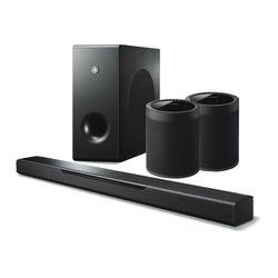 YAS-408 사운드바+서브우퍼+무선스피커 WX-021 블랙2개
