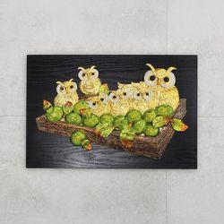 (kkkd006)사과와 부엉이 (소)(60X40cm)