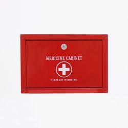 (khhl190)메탈 약보관함(중)(RED)