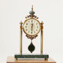 (khhl181)신주 대리석 대형탁상시계