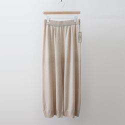 Maille Cashmere Wool Wide Pants