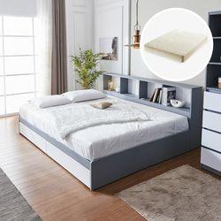 하이덴 파티션 수납형 침대(Q) + 매트리스