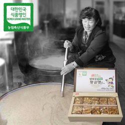 장바우 치악산 황골엿 땅콩깨조각엿 400g