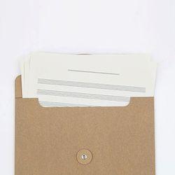크라프트 하도메 봉투 서류 케이스 A4 가로형 세로형