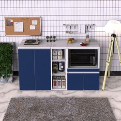 제슨 모던 주방 수납 렌지대 세트 오픈형 1500