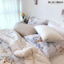 겨울침구 꽃무늬침구 피오나 극세사 베개커버 50X70
