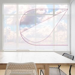 외풍차단 실내난방보온 창문 지퍼환기 투명방풍막대형