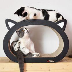 고양이얼굴 골판지 스크래처