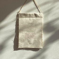 케이블랑 한글 패브릭 달력+파우치 set