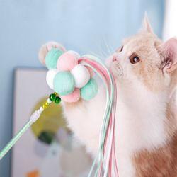 폼폼이 고양이 낚시스틱 장난감