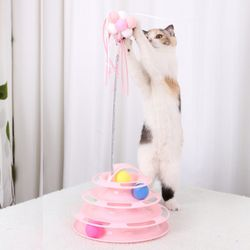 고양이 UFO 장난감공 턴테이블 낚시스틱세트