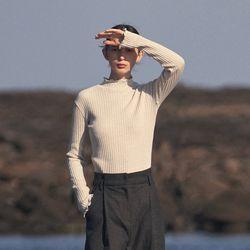 wave pola T-shirt - light gray