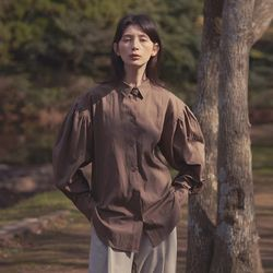mood shirring shirts - brown