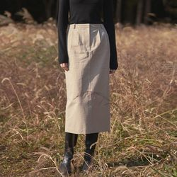 neatly H-line long skirt - beige