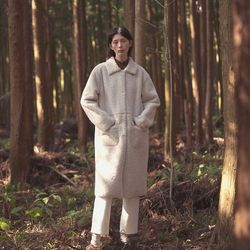 standard dumble long coat - ivory