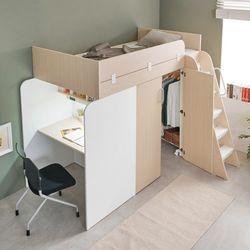 시크릿 책상형 2층 벙커침대 매트포함