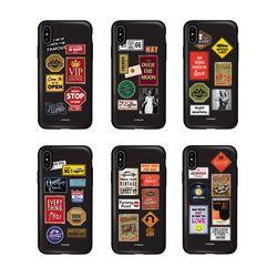 [T]레트로패치 카드 도어범퍼 케이스.아이폰7(8)플러스공용