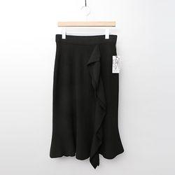 Maille Wool Ruffle Mermaid Skirt