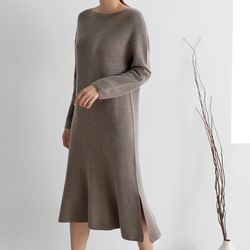 Maille Cashmere Wool Flare Dress