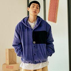 [프리키쉬빌딩] 코듀로이 후드 자켓 바이올렛