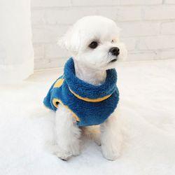 강아지후리스 애견점퍼 배색후리스