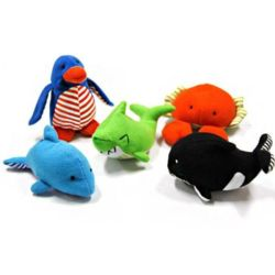 강아지 장난감 바닐린향 바다 시리즈 물고 놀기 애착