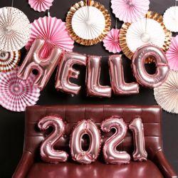 HELLO 신년 파티 장식세트 (로즈골드)