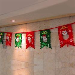 크리스마스 산타 가랜드 귀엽고 가벼운 벽걸이 장식