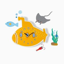 브론즈하우스 WMC-158 잠수함 벽시계&데코스티커(무소음)