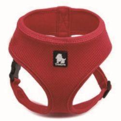 강아지 하네스 에어매쉬 애견 목줄 리드줄 산책 레드