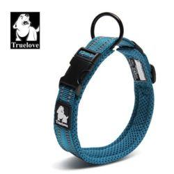 대형 강아지 목줄 외출 산책 하네스 리드줄 블루 S