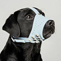 강아지 입마개 가죽 중 대형견 애견 마스크 입마개