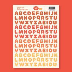 [당일발송] 알파벳(벽난로) 씰스티커