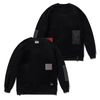 DV TECH OVERSIZED HEAVY SWEAT CREWNECK BLACK