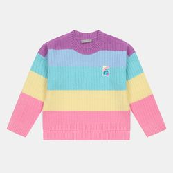 무지개 크롭 스웨터 CIKA20N01