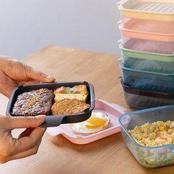 채널앤쿡 냉동밥 밀폐용기 5개 세트 (6type)