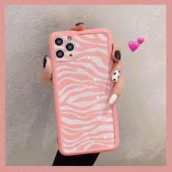 핑크 지브라 얼룩무늬 레오파드 아이폰 젤리케이스