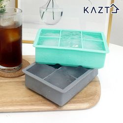 [무료배송] 파스텔 실리콘 아이스큐브 원형 얼음틀 사각 6구