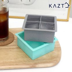 파스텔 실리콘 아이스큐브 원형 얼음틀 사각 4구 2colors