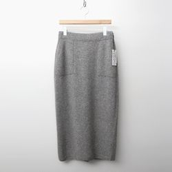 Maille Raccoon Wool Pocket Long Skirt