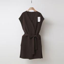 Maille Raccoon Wool Long Vest