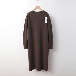 Maille Raccoon Wool Long Dress