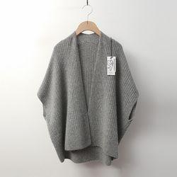 Maille Raccoon Wool Shawl Vest