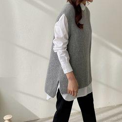 Maille Raccoon Wool Unbal Vest