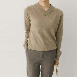 Raccoon Wool V-Neck Sweater