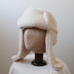 뽀글이 양털 퍼 귀달이 군밤모자 트루퍼햇 (4color)